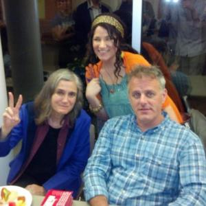 Me meeting Amy Goodman and Dennis Moynihan during their Election 2012 tour-def one of my top moments of the year!