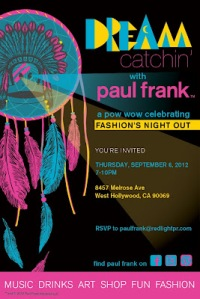 Paul Frank Industries apologized for this offensive flyer and party, and then expressed interest in holding a panel on Native imagery at a future conference and working with a Native artist to make designs!