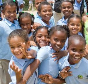 Children of the families of the Dominican cocoa co-operative CONACADO, a partner of Equal Exchange.