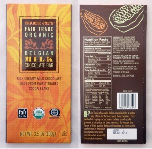 Misleading labels: This Trader Joe's bar is cheaper than other Fair Trade chocolate bars, but how do we know the ingredients on this bar weren't made with exploitative labor?