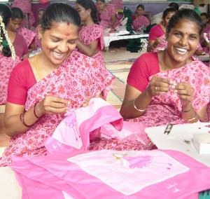 Can we get to a place where everyone is this happy sewing? (photo courtesy of Believe you Can).