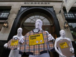 After worldwide protests when hazardous chemicals were found in children's clothes, Burberry committed to being detox-free by 2020 (photo courtesy of Ecouterre).