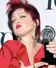 Cyndi being Cyndi after her big Tony win!