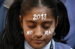 A young woman protests sexual violence after the gang rape in Dehli, India.